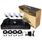 DSC DK04D7C60 комплект цифров видеорекордер с 4 вътрешни куполни аналогови видеокамери
