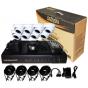 DSC DK08D7C60 комплект цифров видеорекордер с 8 вътрешни куполни аналогови видеокамери