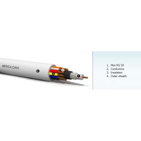 MiniRg 59 + (2 x 0.75 + 2 x 0.22 mm) - Комбиниран кабел за CCTV
